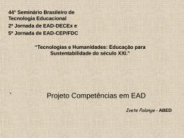 Projeto de Competências para EAD