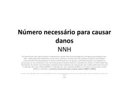 Número necessário para causar danos[NNH / NND]