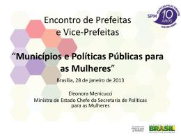 8h30 - Políticas para as Mulheres