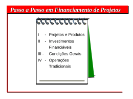 Passa a passo para a Obtenção de Financiamento de Projetos