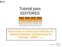 Tutorial para EDITORES - Núcleo de Editoração Eletrônica