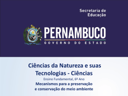 Mecanismos para a preservação e conservação do meio ambiente