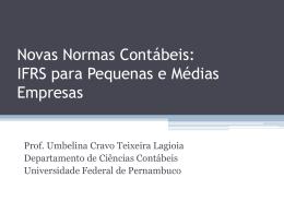 Novas Normas Contábeis: IFRS para Pequenas e - sescap-pe