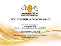 Apresentação Defensoria Pública - Ministério Público