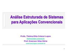 Análise Estruturada de Sistemas para Aplicações