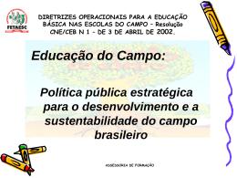Diretrizes Operacionais para a Educação Básica nas Escolas do
