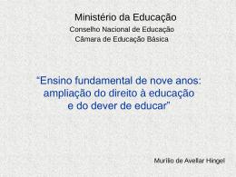 Ensino fundamental - Ministério da Educação