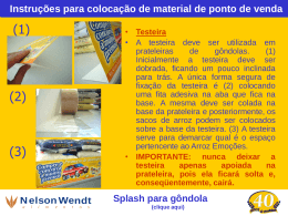 Instruções para colocação de splash