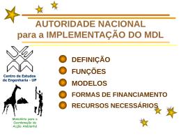 Autoridade nacional para a implementação do MDL