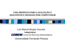 uma proposta para a avaliação e diagnóstico mediada por