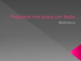 Preparar-me para um teste