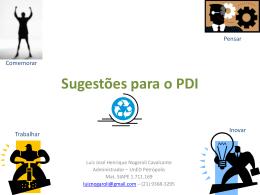 Sugestões para o PDI - Cefet-RJ