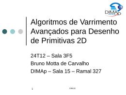 Algoritmos de Varrimento para desenho de primitivas 2D