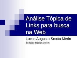 Análise Tópica de Links para busca na Web