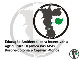 Educação Ambiental para incentivar a agricultura Orgânica na