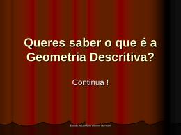 Queres saber o que é a Geometria Descritiva?