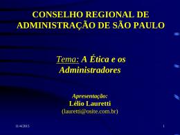 Lelio_Lauretti - Conselho Regional de Administração de São