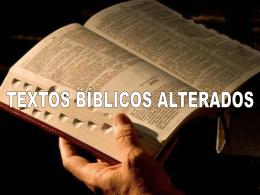 Compare alguns textos nas versões das Bíblias atuais Este Power