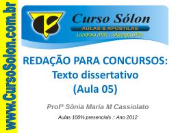 Texto dissertativo - Curso Sólon Concursos