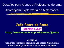 Didáctica da Matemática I
