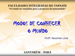 O mundo sensível - Faculdades Integradas do Tapajós