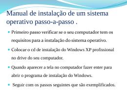 Manual passo-a-passo de instalação de um sistema