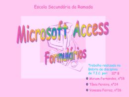 Microsoft Access - Formulários