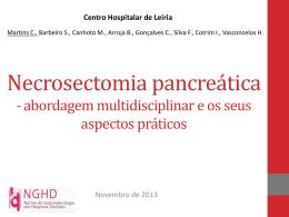 Necrosectomia pancreática - abordagem multidisciplinar e