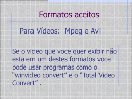 Aula sobre a TV Pendrive