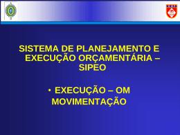 Orientações para Execução de Movimentação no SIPEO