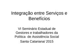 INTEGRAÇÃO ENTRE SERVIÇOS E BENEFÍCIOS 01