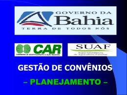 curso de gestão de convenios car/seagri-planejamento