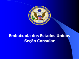 B-1/B-2 - Embaixada Americana
