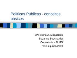 Políticas Públicas - conceitos básicos
