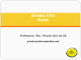 Direito do Consumo Professora: Msc. Priscila Zeni