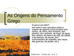 Origens do Pensamento Grego