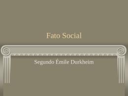 Fato Social - Durkheim