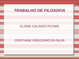 ELAINE E CRISTIANE PRIMEIRO A