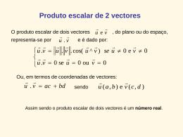 Produto escalar de 2 vectores