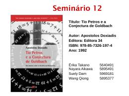 Seminário 12 - IME-USP