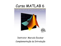 Curso MATLAB 6 Complemento