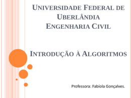 ExercíciosVetor - Facom - Universidade Federal de Uberlândia