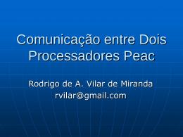 Comunicação entre Dois Processadores Peac 4