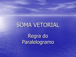 SOMA VETORIAL