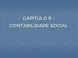 CAPÍTULO 9 – CONTABILIDADE SOCIAL