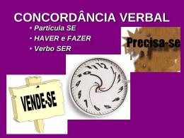 CONCORDÂNCIA VERBAL