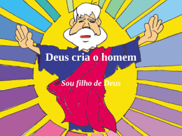 Deus cria o homem