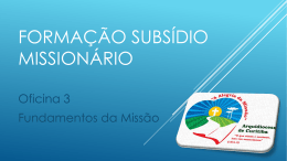 AM – Oficina 3 – Fundamentos da Missão