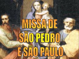 Missa de São Pedro e São Paulo – 2012 – II