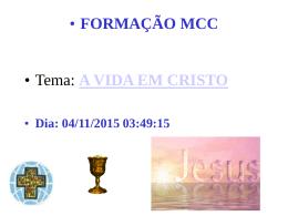 A Vida em Cristo (Cursilho)-Palestra